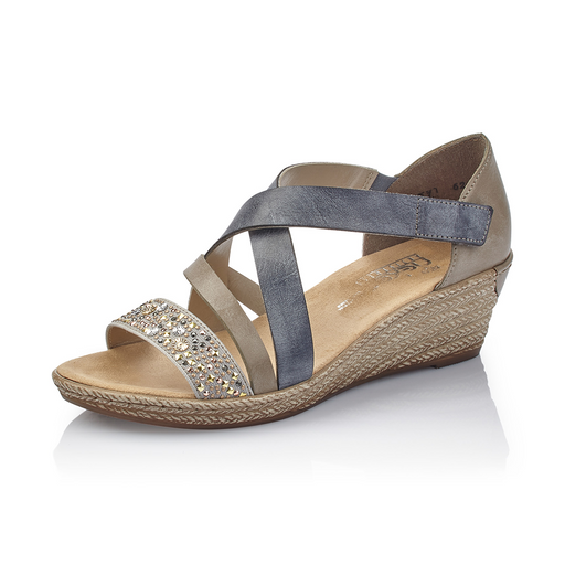 Rieker 62405-42 sandal grå-Rieker-Hoofers - We love shoes