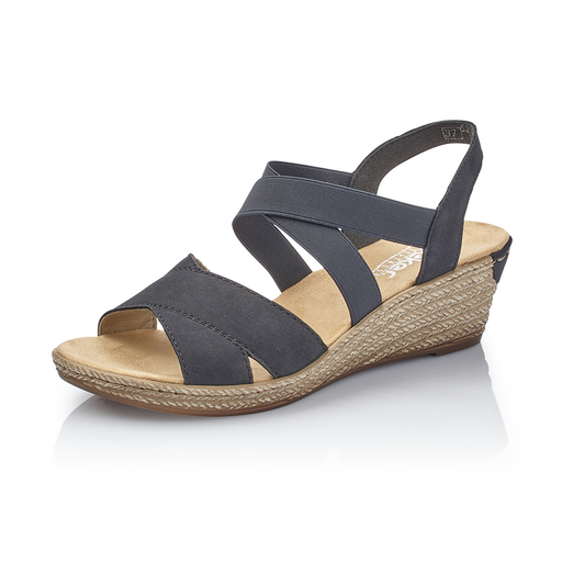 c1c99333eba8 Rieker 62412-15 sandal blå-Rieker-Hoofers - We love shoes