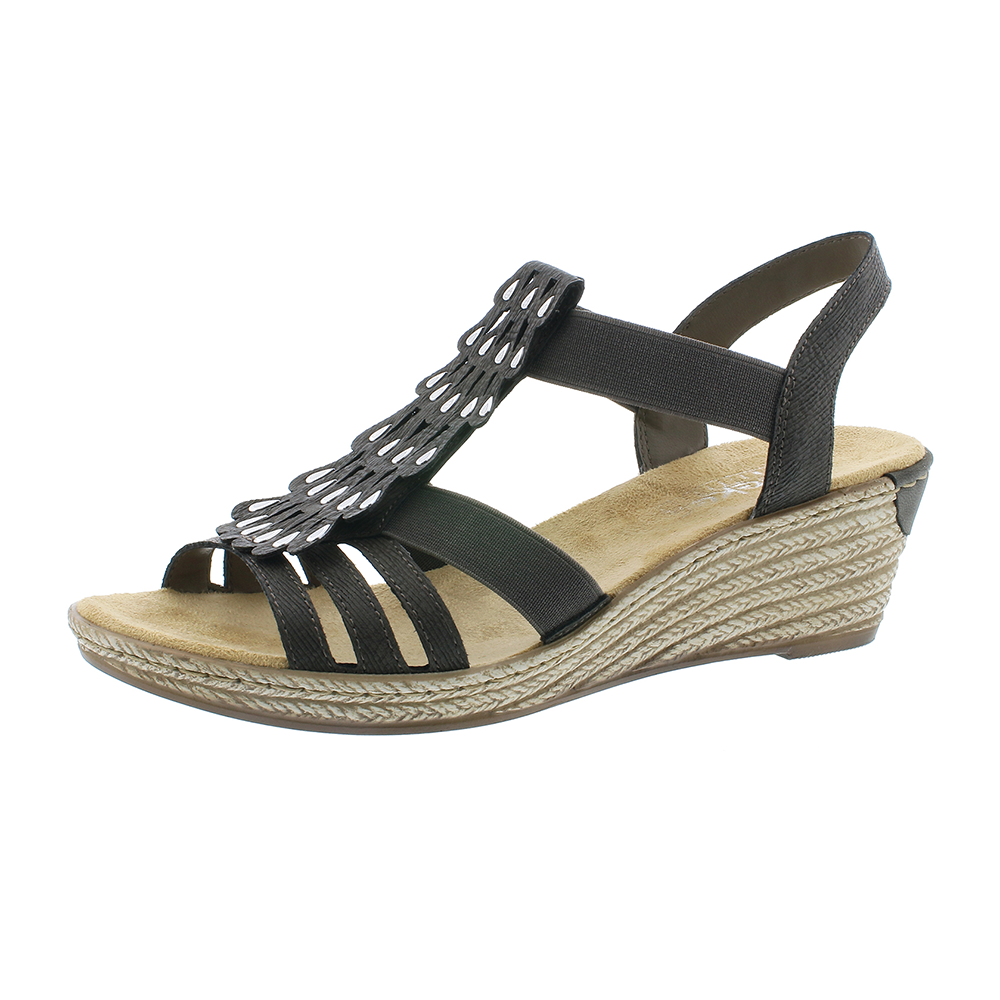 Rieker 62436-45 sandal grå-Rieker-Hoofers - We love shoes