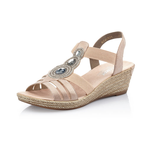 ee5cfc19cfe2 Rieker 62459-31 sandal rosa-Rieker-Hoofers - We love shoes