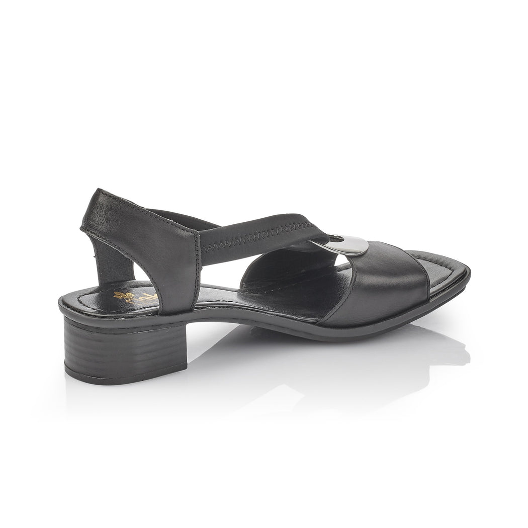 Rieker 62662-01 sandal sort-Rieker-Hoofers - We love shoes