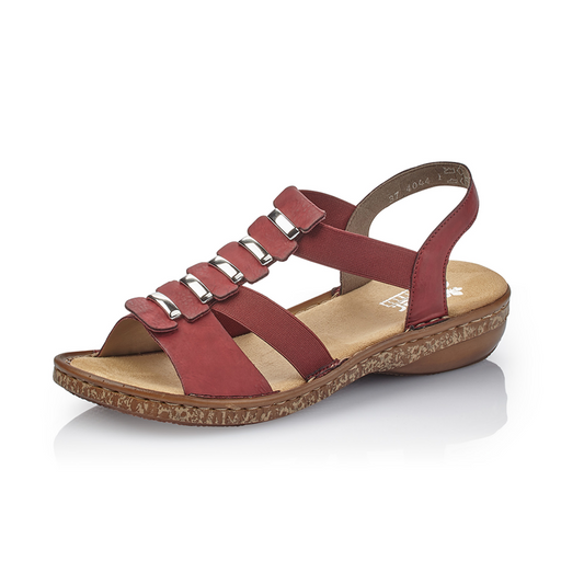 088f725c0618 Rieker 62850-35 sandal rød-Rieker-Hoofers - We love shoes