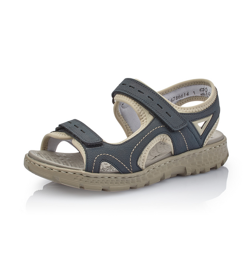 d7191c4df830 Rieker 67866-14 sandal blå-Rieker-Hoofers - We love shoes