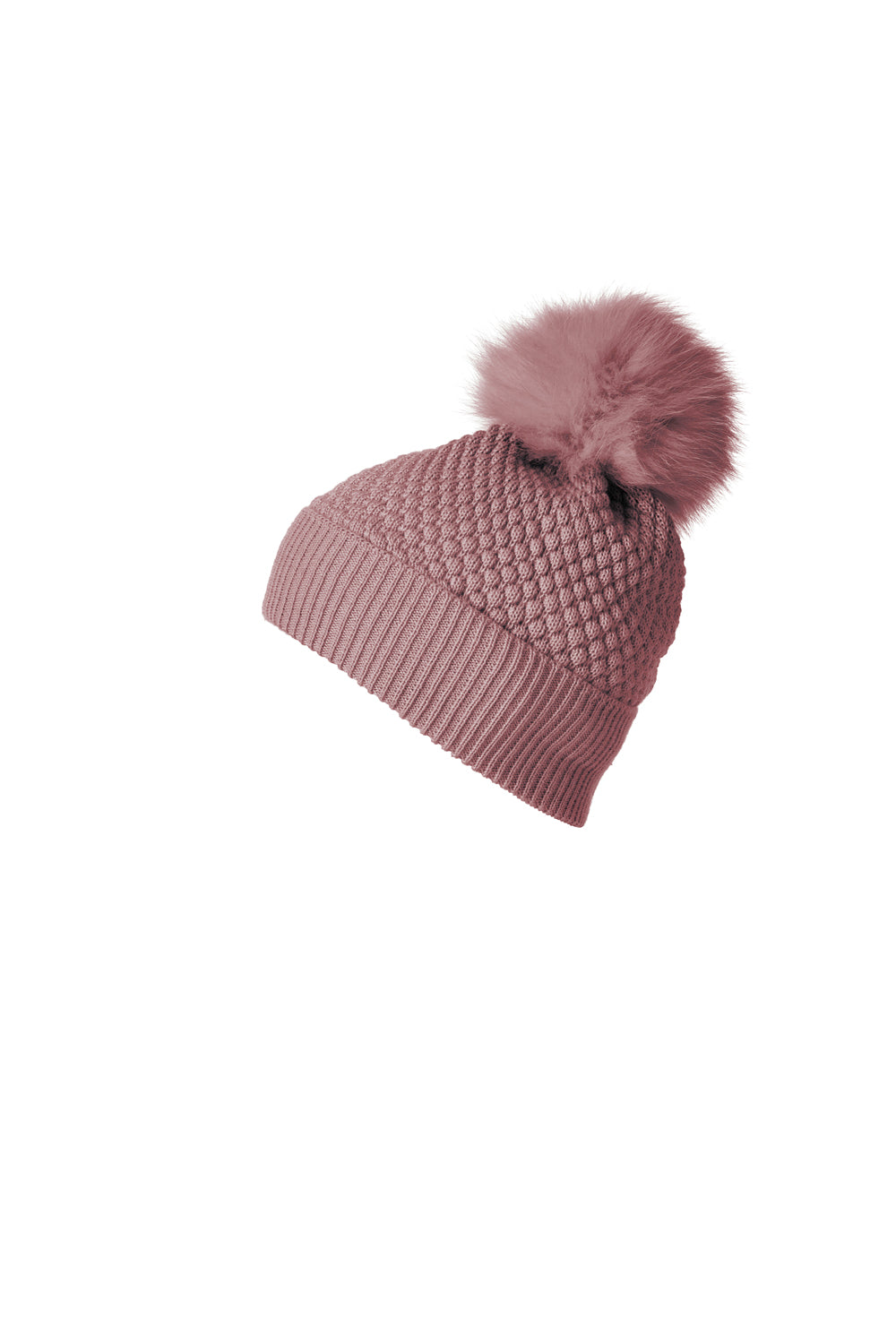 MP 96700-870 Oslo beanie w. fur rose-MP-Hoofers - We love shoes