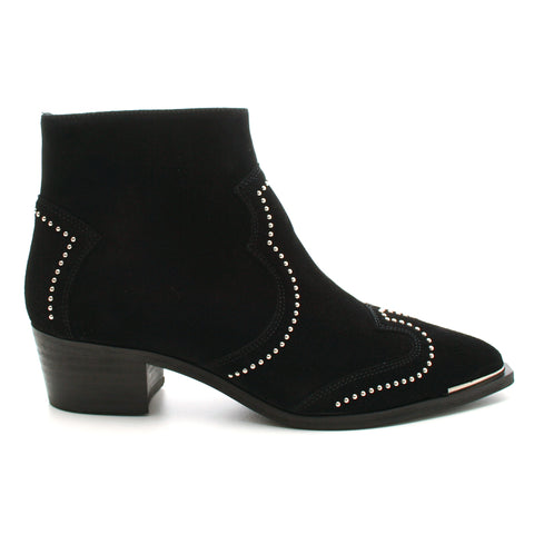 Billibi 5403 Black Velour Suede