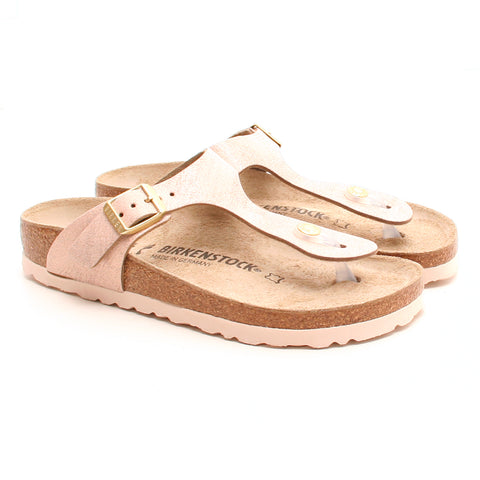 Birkenstock Gizeh Washed Metallic Rose Gold sandal rosa