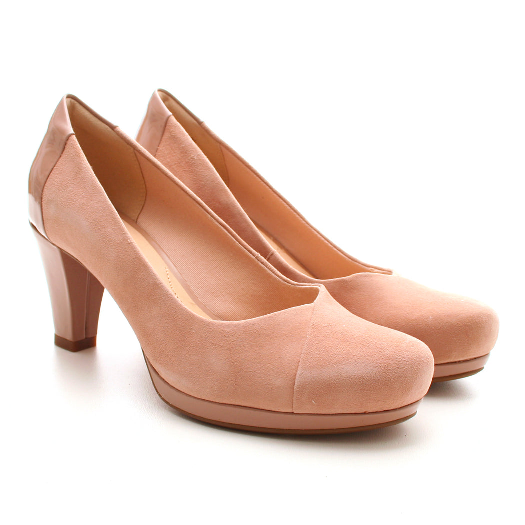 Clarks Chorus Carol pump nude-Clarks-Hoofers - We love shoes