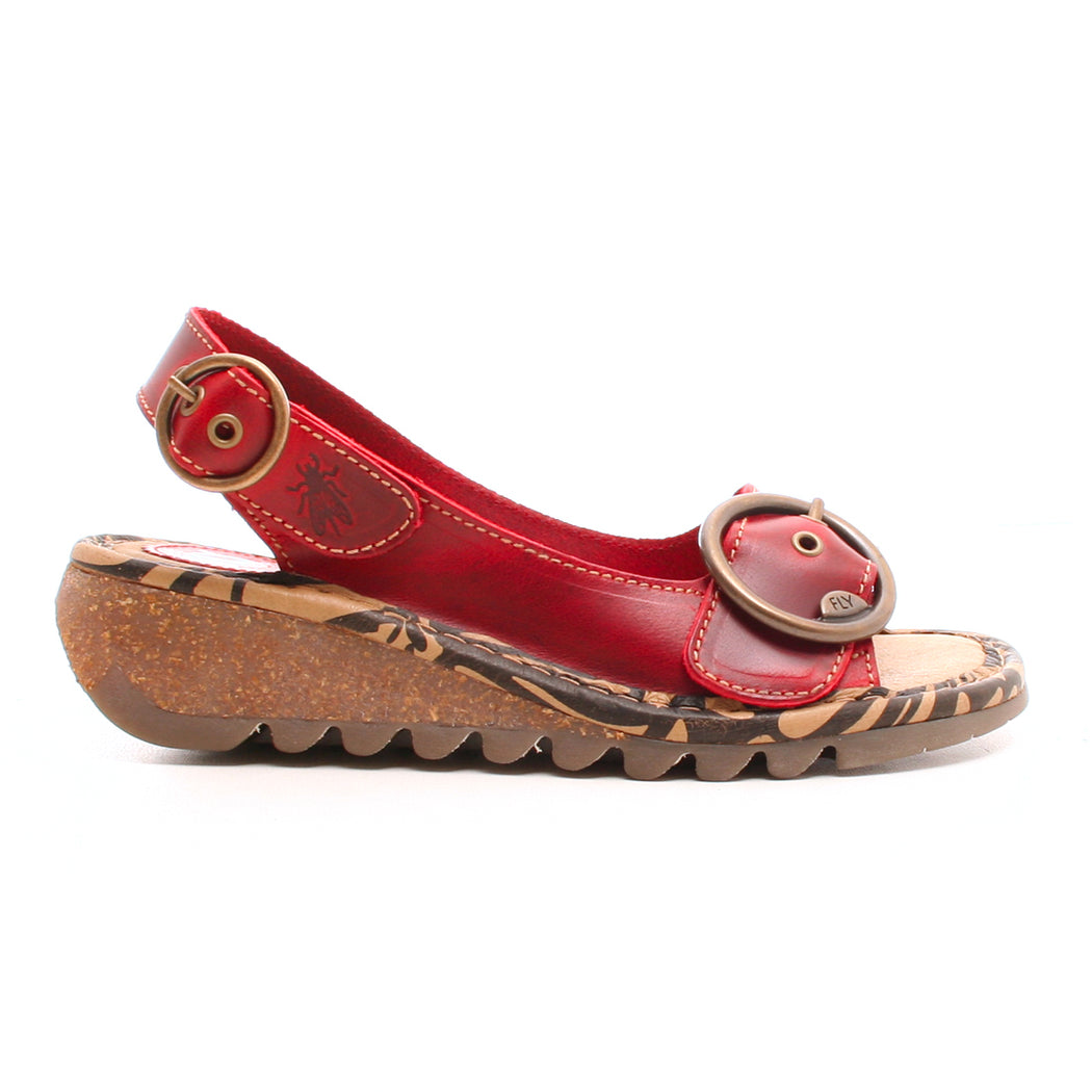 Fly London Tram sandal rød-FLY London-Hoofers - We love shoes
