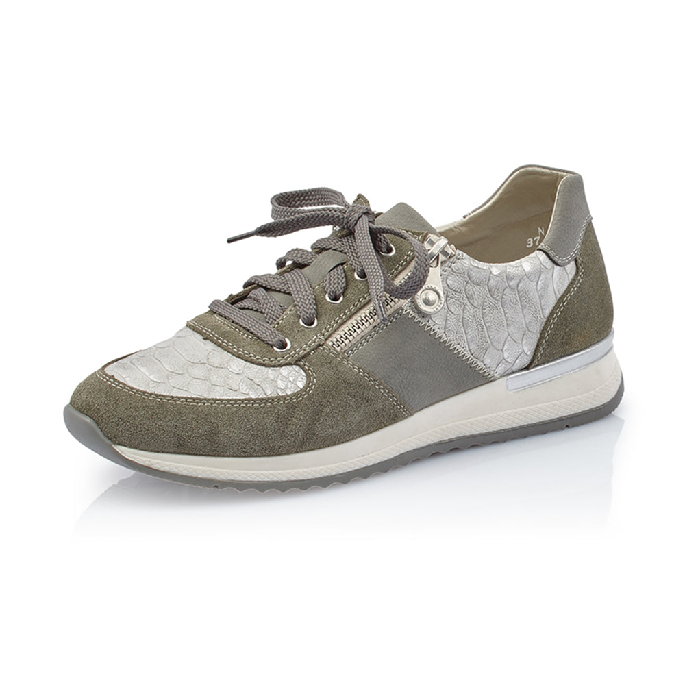 Rieker N7022-54 sneakers grøn-Rieker-Hoofers - We love shoes