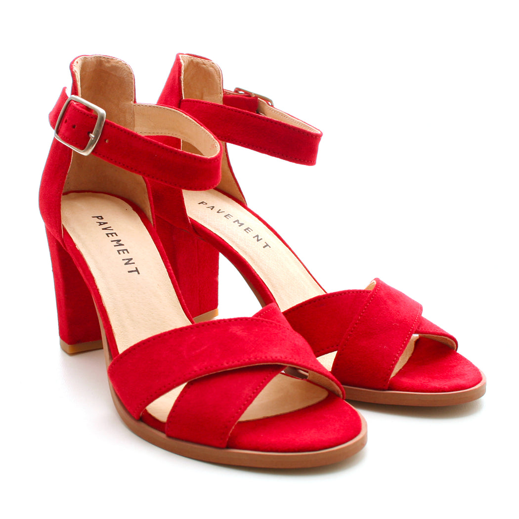 Pavement Silke Cross sandal rød-Pavement-Hoofers - We love shoes