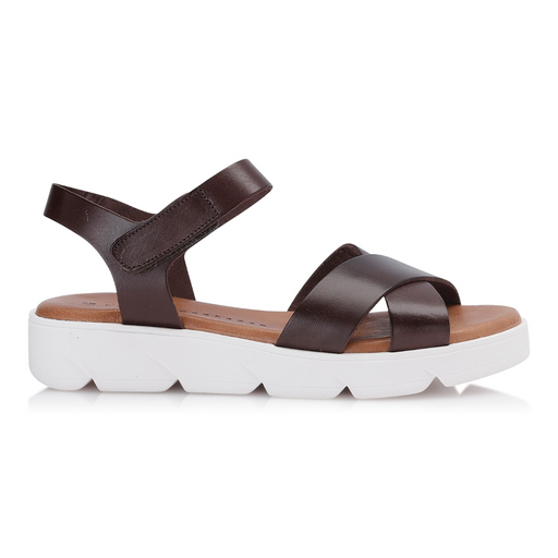 Shoe Biz Tatu sandal brun-Shoe Biz-Hoofers - We love shoes