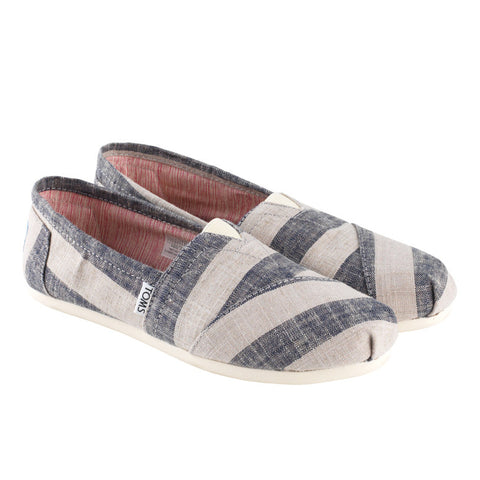 Toms Classic Beige And Navy Stripes
