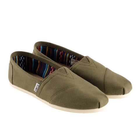 Toms Classic Olive Canvas