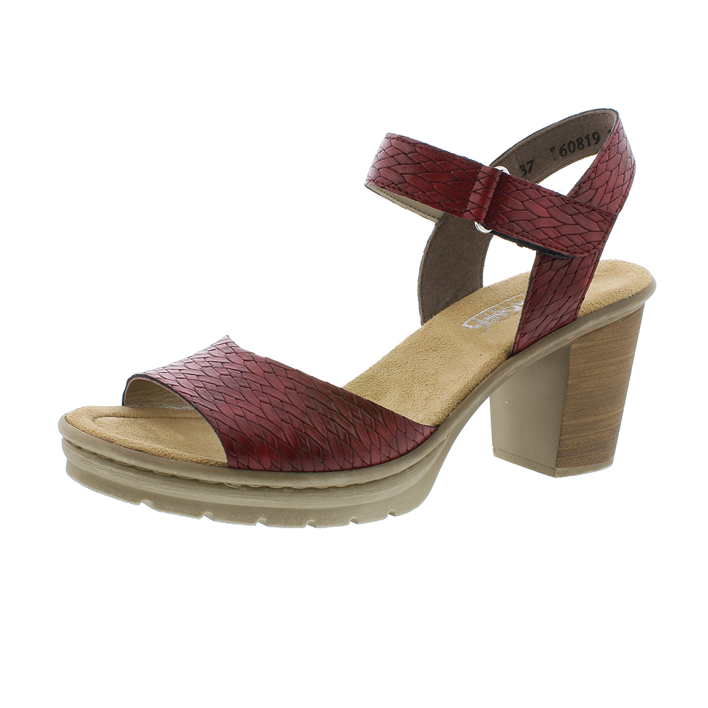 Rieker V1589-35 sandal rød-Rieker-Hoofers - We love shoes