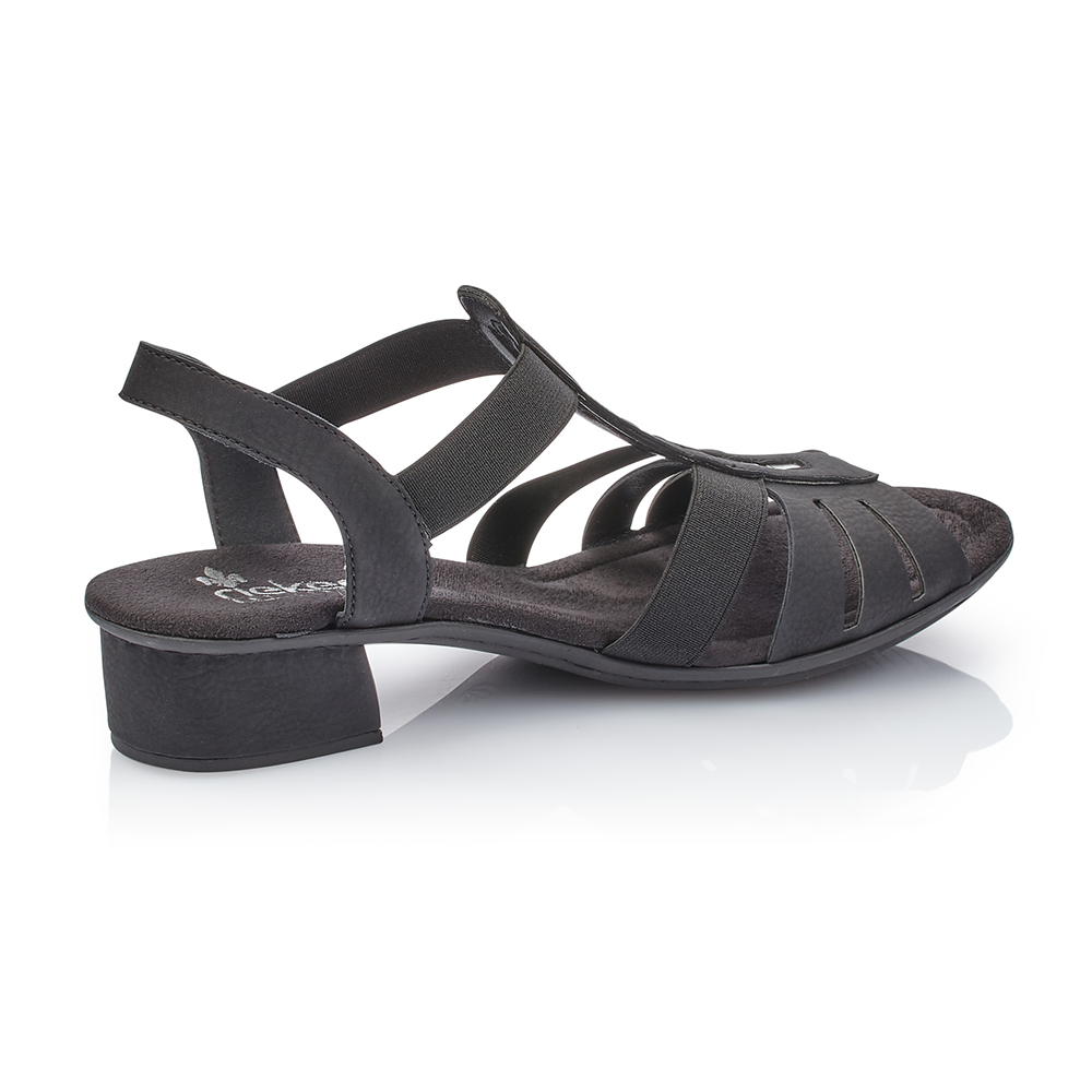 Rieker V6264-00 sandal sort-Rieker-Hoofers - We love shoes