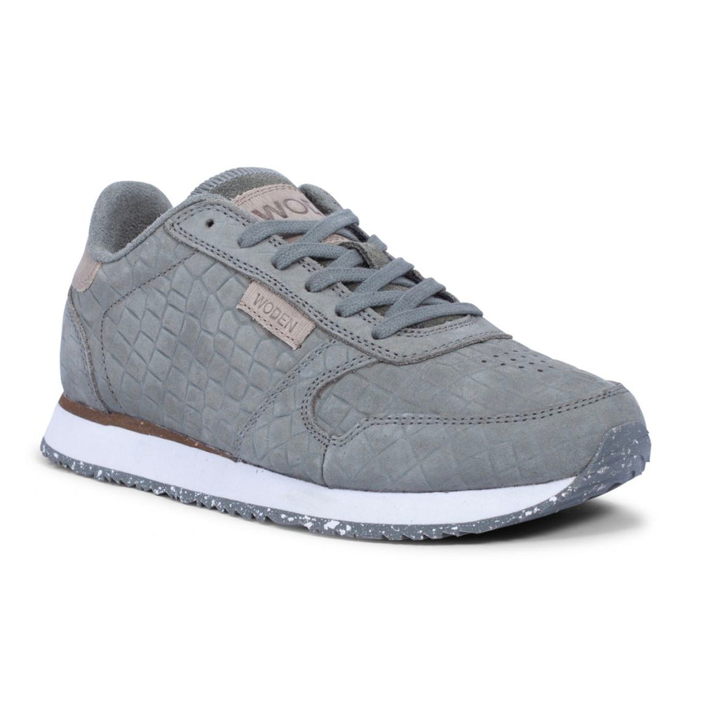 Woden WL048-302 Ydun Croco sneakers grøn-Woden-Hoofers - We love shoes