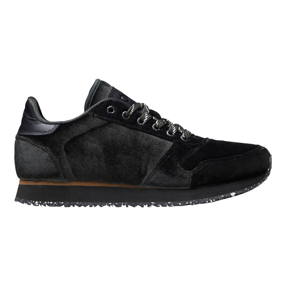 Woden WL1001-296 Ydun Velvet sneakers grøn-Woden-Hoofers - We love shoes