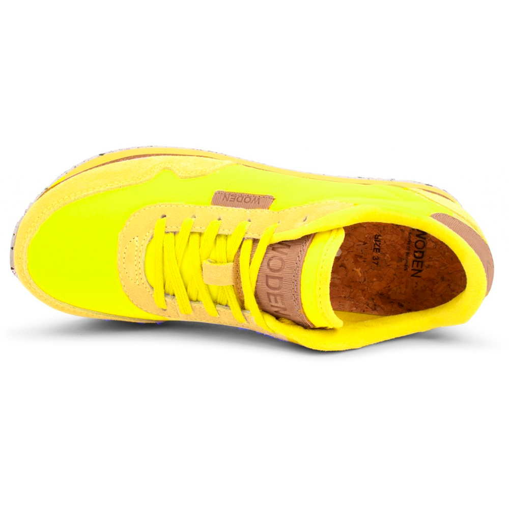 Woden WL1750-601 Nora II Plateau sneakers neon yellow-Woden-Hoofers - We love shoes