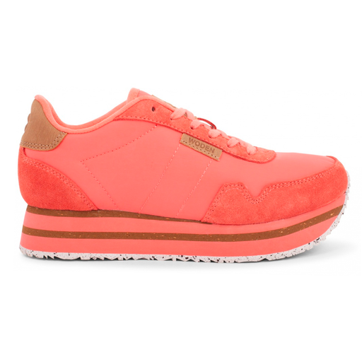 Woden WL1750-603 Nora II Plateau sneakers sugar coral-Woden-Hoofers - We love shoes