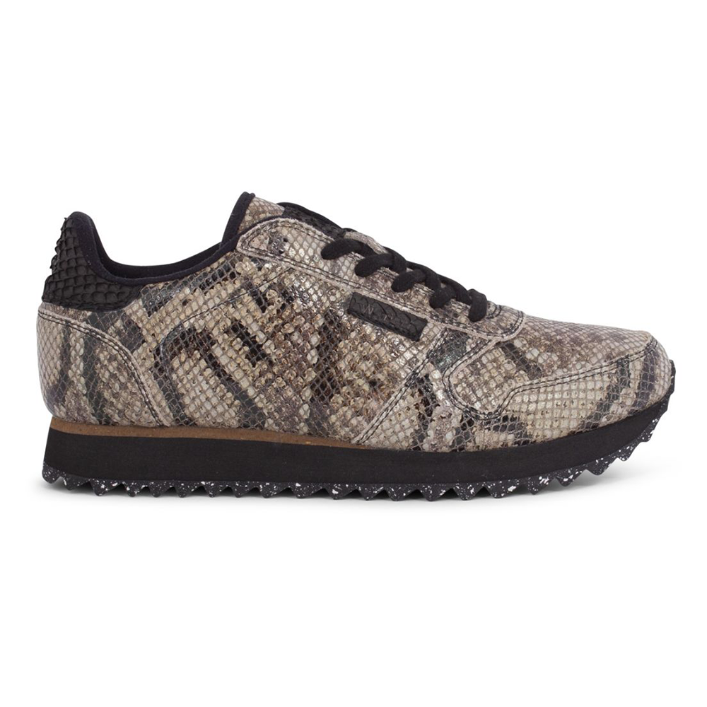 Woden WL410-085 Ydun Snake sneakers brown-Woden-Hoofers - We love shoes
