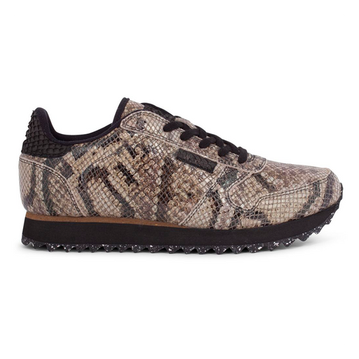 Woden WL410-085 Ydun Snake sneakers brun-Woden-Hoofers - We love shoes