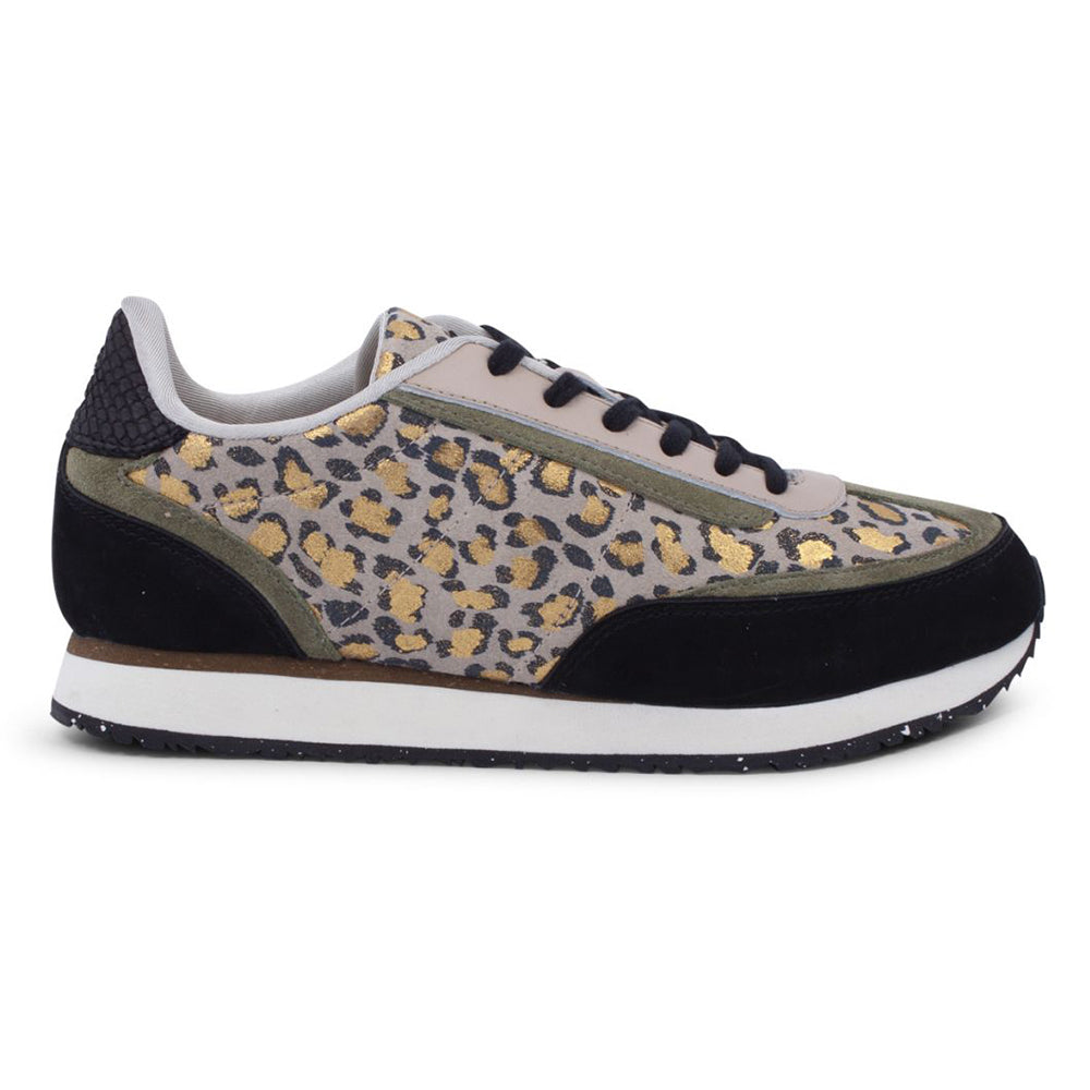 Woden WL5004-032 Agnes Leopard sneakers light sand-Woden-Hoofers - We love shoes
