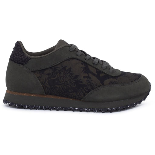 Woden WL8006-355 Nynne Jacquard sneakers seaweed green-Woden-Hoofers - We love shoes