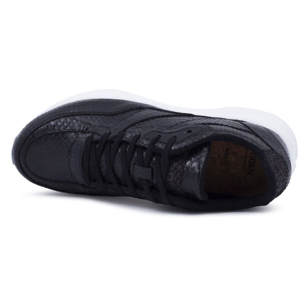 Woden WL841-020 Sophie Snake sneakers black-Woden-Hoofers - We love shoes