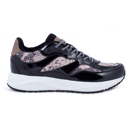 Woden WL841-085 Sophie Snake sneakers brun snake-Woden-Hoofers - We love shoes