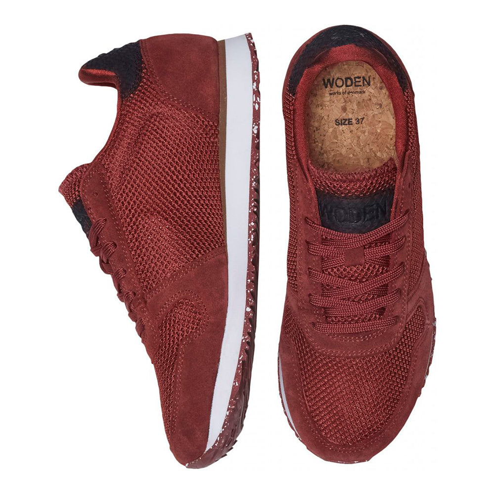 Woden WL029-358 Ydun Mesh NSC sneakers bordeaux-Woden-Hoofers - We love shoes