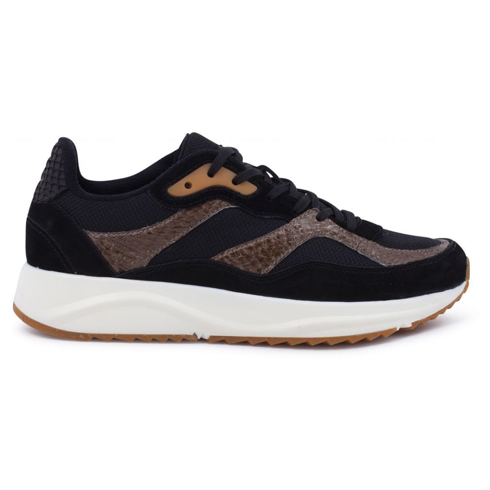 Woden WNS5050-163 Sophie Mix NSC sneakers black/brown-Woden-Hoofers - We love shoes