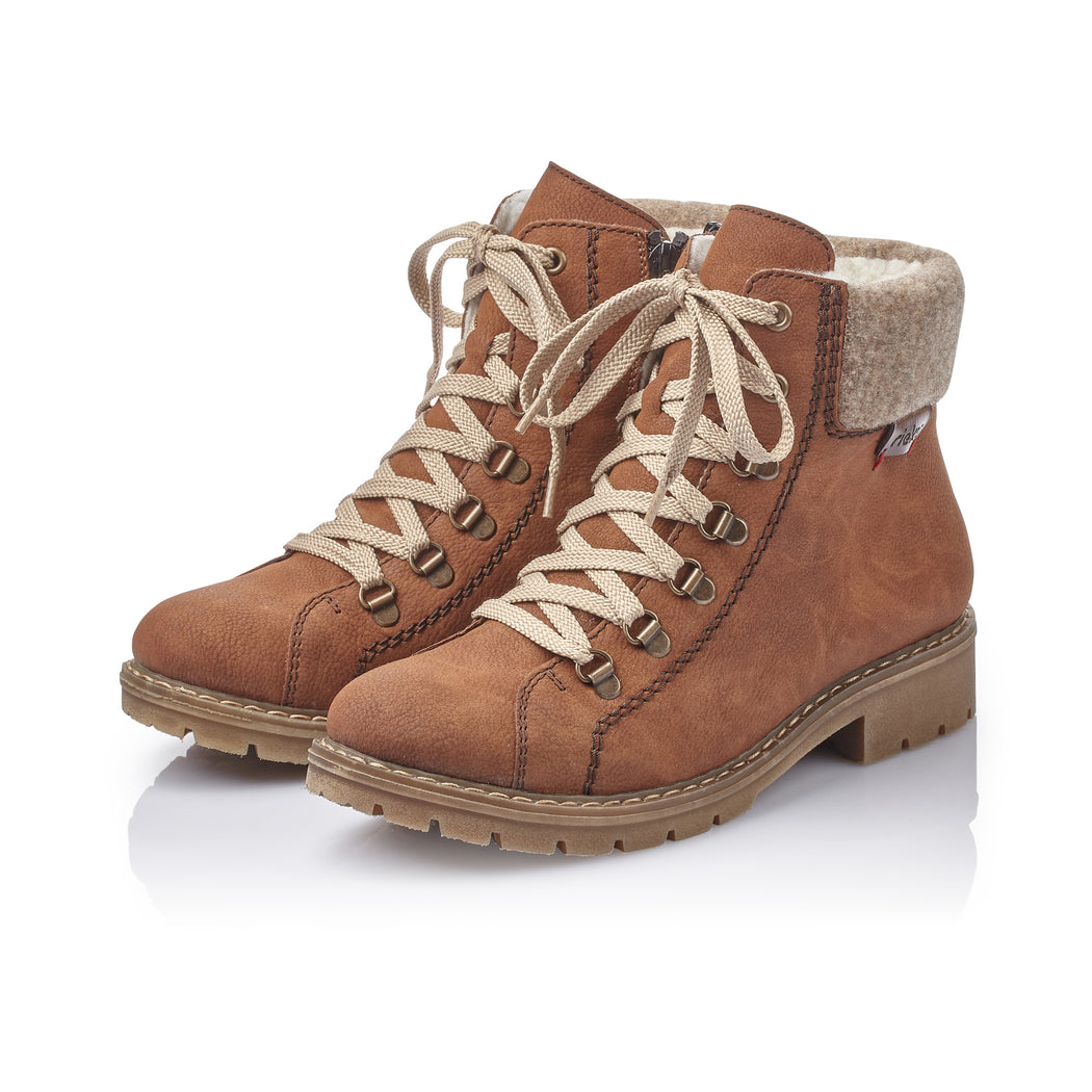 Rieker Y9142-22 støvle cognac-Rieker-Hoofers - We love shoes