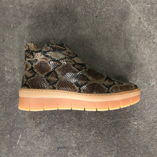 Pavement Maddie Lace Snake 18381-1-404 støvle green-Pavement-Hoofers - We love shoes