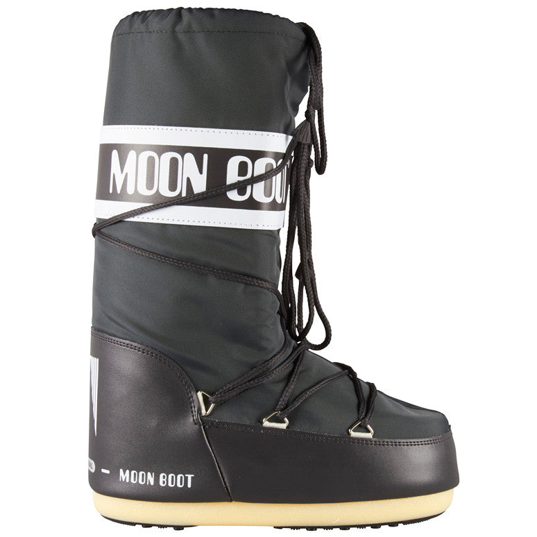Moon Boot Nylon støvle grå-Moon Boot-Hoofers - We love shoes
