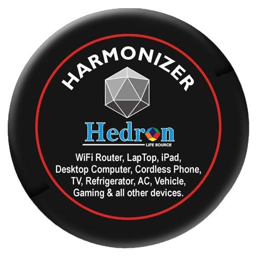 Hedron Harmonizer for Larger Electronic Devices EMF EMR Shield radiation protection Sticker-EMF Shield-Hedron Life Source-Berkey Water Purifiers UK
