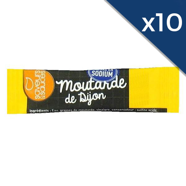 Moutarde en stick - pauvre en sel - 4g - par lot de 10