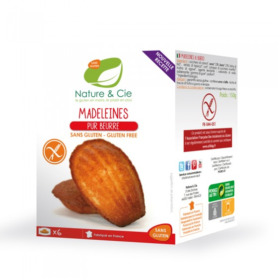 Madeleines Pur Beurre - pauvres en sel - 150g