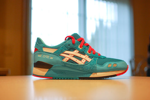 "Asics Gel Lyte III x BAIT ""Teal Dragon"" - Kicks Links"