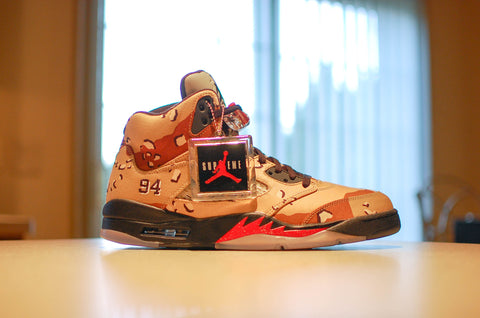 "Air Jordan 5 x Supreme ""Desert Camo"" - Kicks Links"