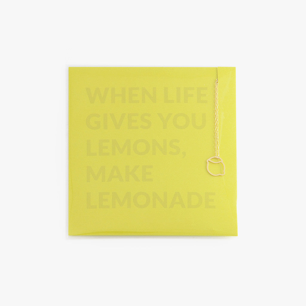 Lemon charm necklace by Talia Sari, a little reminder for what to do when life gives you lemons...