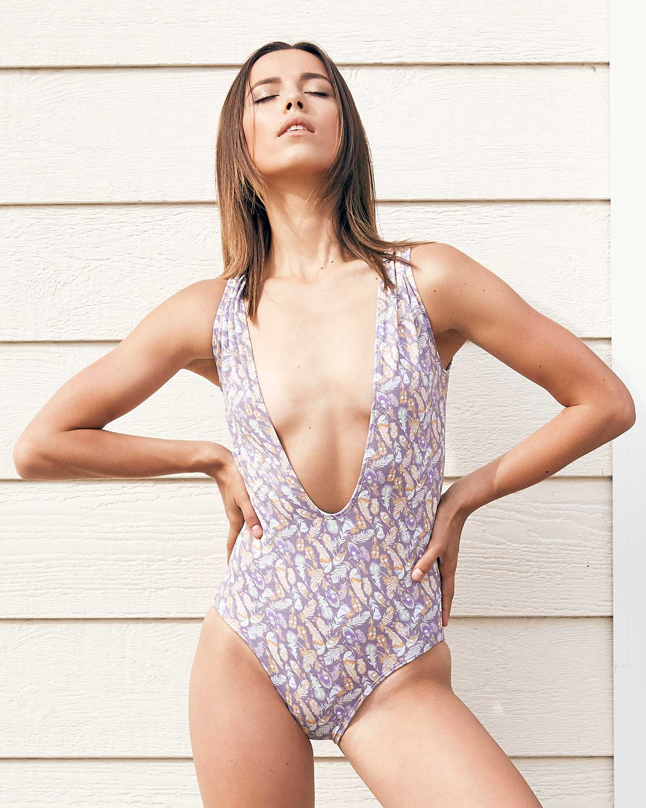 FEATHERY PLUNGE ONE PIECE