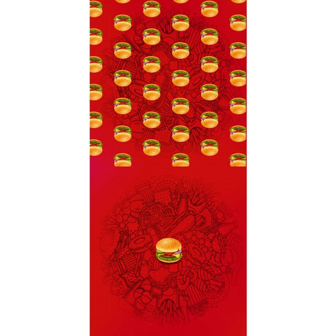 Hamburger Panel Set - Red