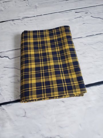 Aberdeen Plaid - Dark Blue/Mustard Jersey