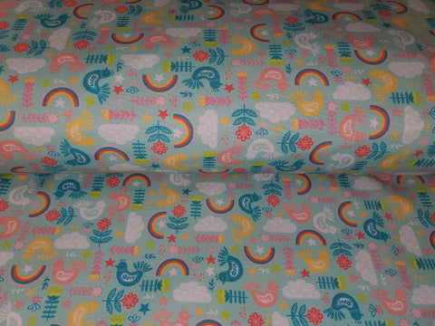 Softshell - Birds and Rainbows Mint