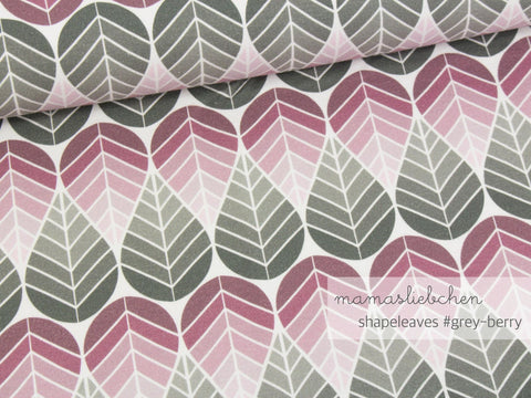 Shapeleaves - Gray/Berry - Jersey