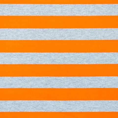 Melange Grey Stripes - Orange Jersey