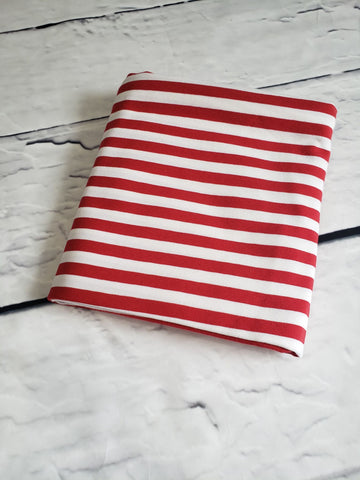 Stripes - 1 cm Red/White Jersey