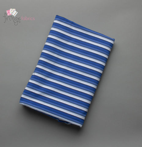 Shaded Stripes Small - Blue Jersey