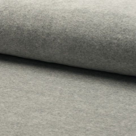 Cotton Velour - Grey Melange
