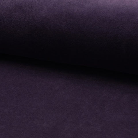 Cotton Velour - Aubergine